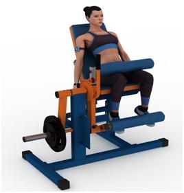 Занятия на тренажерном кресле для сгибания и разгибания суставов